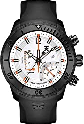 TX Men's T3C313 800 Series Linear Titanium Chronograph Dual-Time Zone Watch