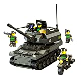 Kids K-9 Tank Construction Building Blocks and Bricks Intelligence Learning and Activity Toys for Children Girls Boys Age Over 6 Years Old, 258pcs