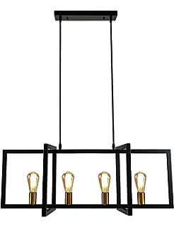 Amazon.com: Lingkai - Lámpara de cocina industrial, 6 luces ...