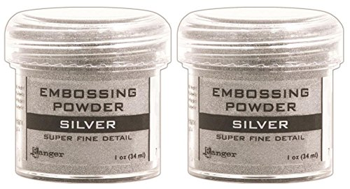 2-Pack - Ranger Embossing Powder, Super Fine Silver by Ranger