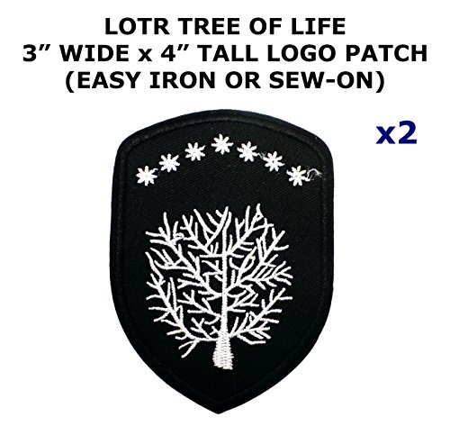 Lord Of The Rings Costumes Diy (2 PCS Tree of Life Lord of the Rings Movie Theme DIY Iron / Sew-on Decorative Applique Patches)