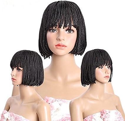 Meisi pelo recto peluca de pelo corto fibra kanekalon sintético ...