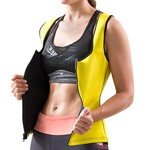 FITSLIM Chaleco de sudaci/ón Intensive con Cremallera para Mujer/ /augmente la Temperatura Corporal de tu Cuerpo para Intensifier Sudor y favoriser eliminaci/ón de Grasa y Toxines