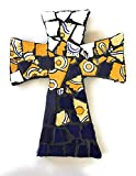 Mexican Tile Talavera Handcrafted Mosaic Yellow Blue and Ivory Multi colored Ceramic tile