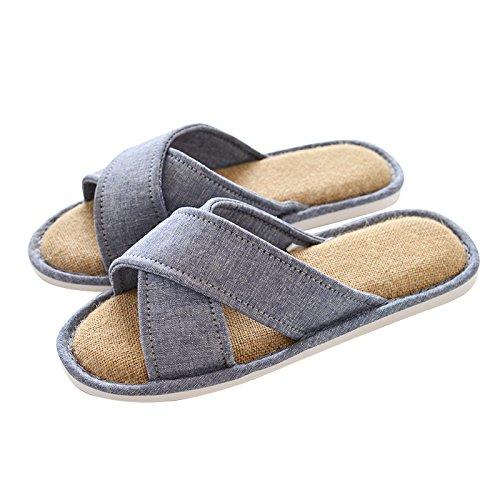 Indoor spring and summer woman slippers slippers pink floor Linen 39 antiskid and men's in women's 40 vzvcqrwH