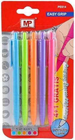 MP PE614 - Pack de 5 bolígrafos: Amazon.es: Oficina y papelería