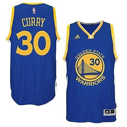 NBA Stephen Curry Golden State Warriors Adidas Réplica Jersey Camiseta, Replica-Blau