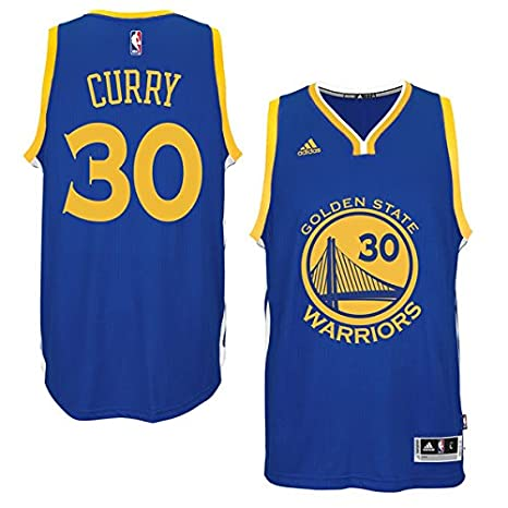 NBA Stephen Curry Golden State Warriors Adidas Réplica Jersey Camiseta..., Replica-Blau: Amazon.es: Deportes y aire libre