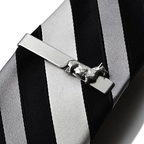 Corgi Tie Clip, Business Gift, Wedding Present, Gift Box (Corgi Tie)