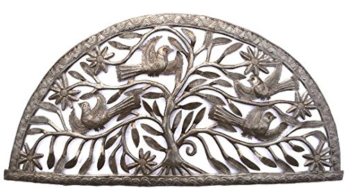 "Tree of Life, Haiti Steel Drum Wall Art 34.25"" X 16.25"""