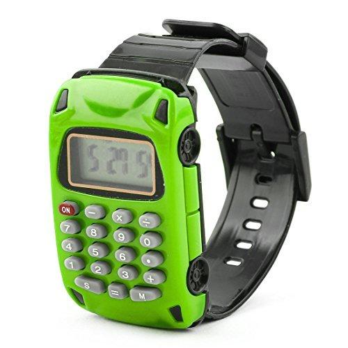 Accueil eDealMax cole Amovible Montre Car Design Wristband 8 chiffres calculateur lectronique vert