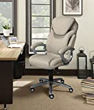 Serta 43807 Air Health and Wellness Executive Office Chair, Light Grey, Gray