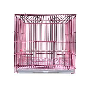 KEBY Jaula de Viaje de Metal para pájaros y Loros, portaequipajes ...