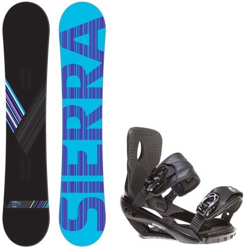 Sierra Reverse Crew 151 Mens Mens Snowboard + Sapient Wisdom Black Bindings - Fits Boot Sizes: 8,9,10,11