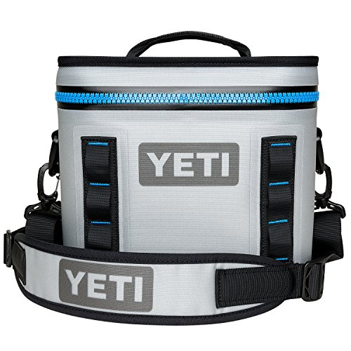 (YETI Hopper Flip 8 Portable Cooler, Fog Gray/Tahoe Blue)