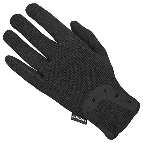 Mashfa Ladies Women Horse Riding Gloves Cotton Dublin Track Fabric Shires Gloves Leather Equestrian 1 YEAR WARRANTY!!! Top Quality Gloves