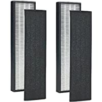 True HEPA Replacement Filter for GermGuardian FLT5000 FLT5111 AC5000 Series Filter C Fit Germ Guardian Air Purifiers 2pcs