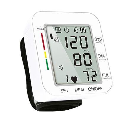 Digital Tensiómetro de muñeca automática, pantalla grande, con sangre automática Ruck de pulso de