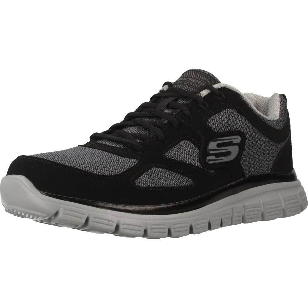 Aturdir más y más prioridad  Buy Skechers Men's Burns Agoura Sneaker Black/Gray at Amazon.in