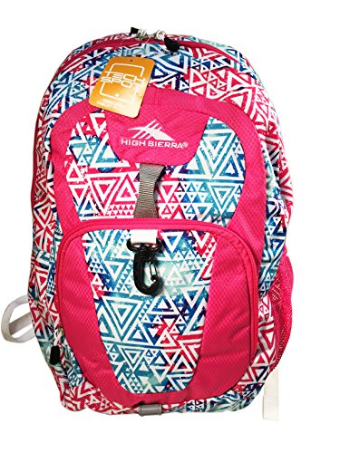 High Sierra Stomp Backpack (Multi-Diamond/PInk)