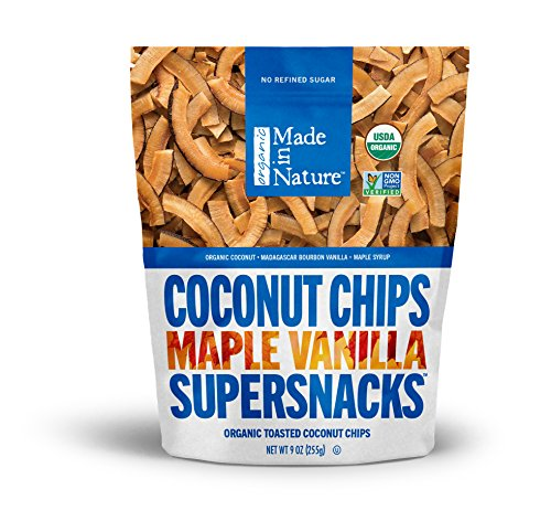 Cheap Made in Nature Organic Super Snacks Maple Vanilla Coconut Chips, 9 Ounce