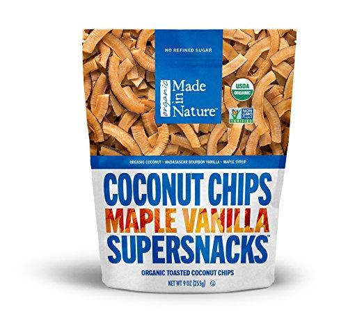 (Made In Nature Organic Maple Vanilla Coconut Chips, 9oz - Non-GMO Vegan Super Snack)