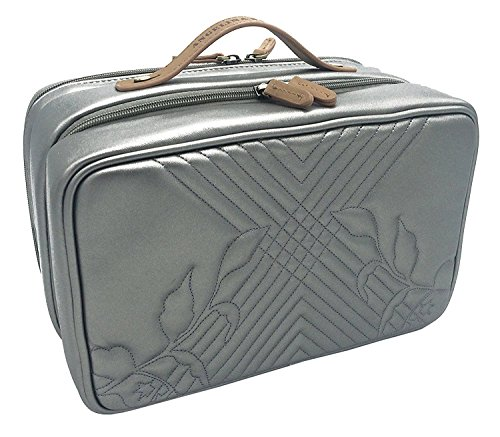 Pewter Earings (Angelina's Palace Jewelry Oragnizer Beynac Large Jewelry Case travel organizer big capacity detachable holders and snapped pouches (Memory Pewter))