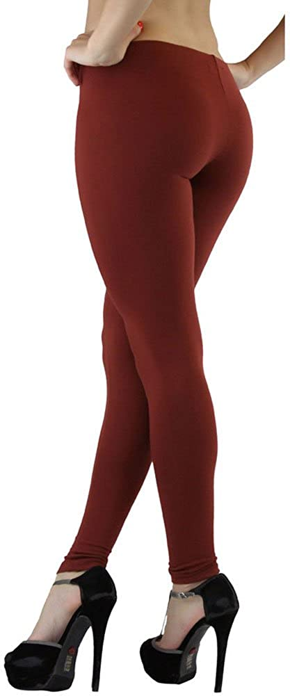 ToBeInStyle Women's Soft Knit Yoga Cotton Skinny Fit Full Length Leggings Tights
