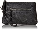 GG Rose by Rock Rebel Sugar Skulls Mini Clutch Wristlet in Black