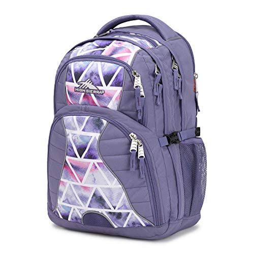 High Sierra Swerve Laptop Backpack, 17-inch Laptop Backpack for High School or College (Purple Smoke/Dreamscape)