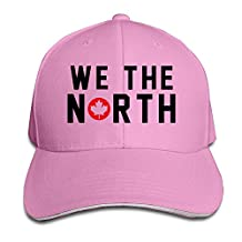 Toronto Raptors Basketball WE THE NORTH Maple Leaf Sandwich Baseball Hats For Men Women White (8 Colors)