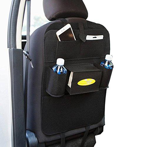 Start Car Auto Seat Back Storage Bag Multi-Pocket Organizer Holder hanger Bags (Vent Tester)