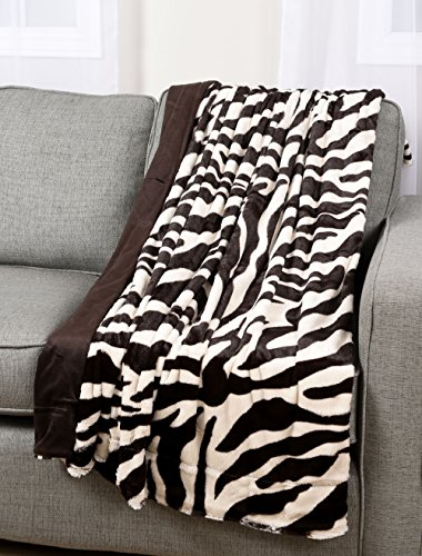 Zebra Faux Fur Throw - 5