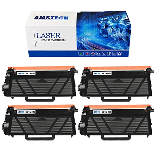 4Pack Amstech 12,000 Pages Black Compatible Toner Cartridge Replacement For Brother TN880 TN-880 TN 880 For Brother HL-L6200DW HL-L6300DW HL-L6200DWT HL-L6250DW MFC-L6800DW MFC-L6900DW Printers (Brother Replacement Copier Cartridge)