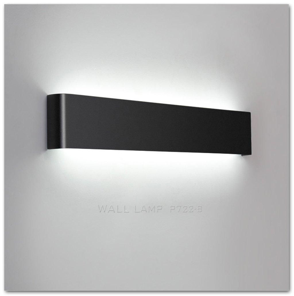 Wandlampe Creative-Wohnzimmer-Wand-Lampen-Moderne minimalistische Persönlichkeit Wandlampe Schlafzimmer Nachttischlampe Stairways Wandleuchte (Farbe   Schwarz, Größe   Diameter60cm)