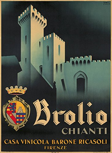 Brolio Vintage Poster (artist: Romoli) Italy c. 1938 (16x24 SIGNED Print Master Giclee Print w/Certificate of Authenticity - Wall Decor Travel Poster)