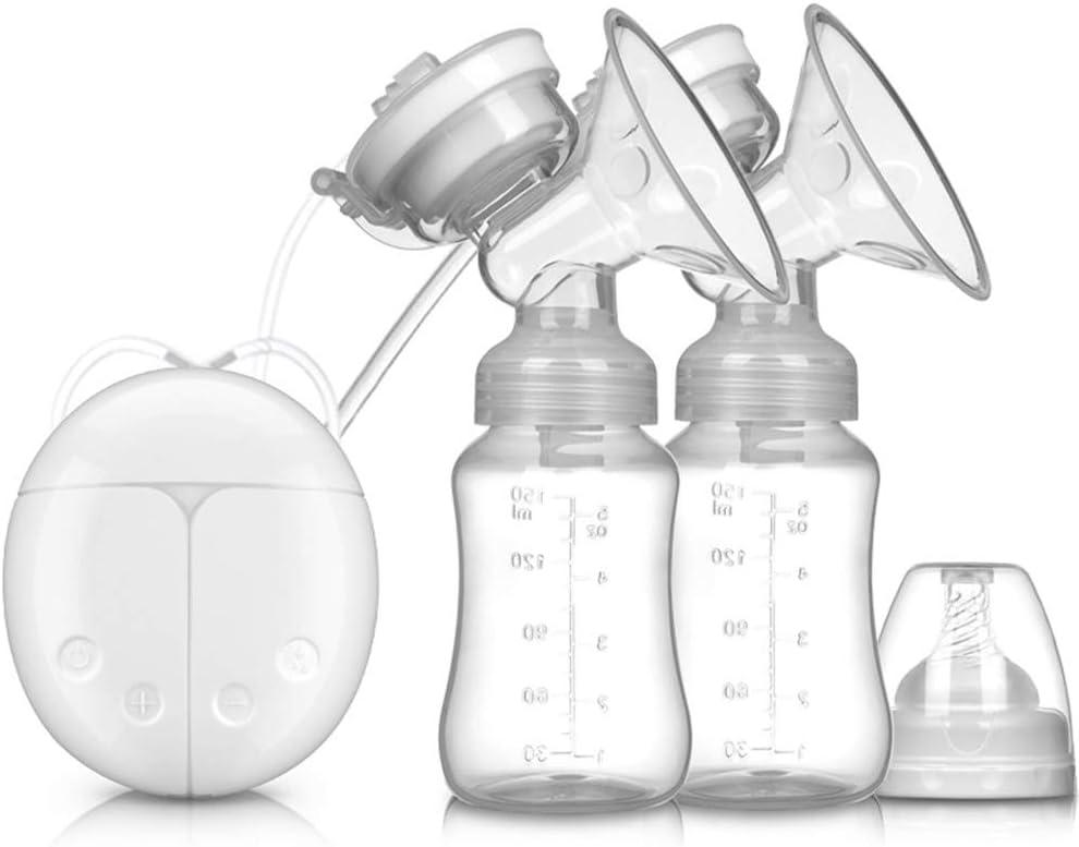 Bomba el/éctrica de lactancia recargable doble bomba de lactancia el/éctrica para leche materna 3 modos ajustables y 9 niveles de succi/ón de bombeo para masaje de leche materna y de senos port/átil