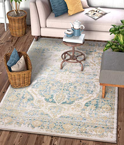 - Well Woven Millie Tribal Mint Blue Medallion Area Rug 8x11 (7'10