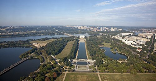 Photograph | View of the Lincoln Memorial, Reflecting Pool, and WWII Memorial, from the Washington Monument, NW, Washington, D.C.| Fine Art Photo Reporduction 44in x 30in