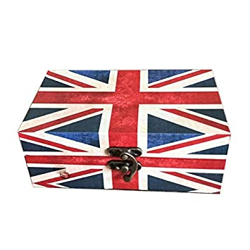 Retro Style Suitcase Boxes British Union Jack Box Wooden Storage Box European Style  sc 1 st  Amazon.com & Amazon.com: Retro Style Suitcase Boxes British Union Jack Box Wooden ...