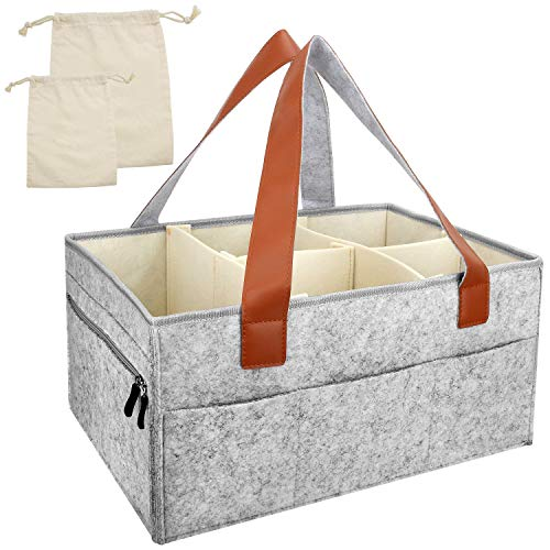 ganizer-[Portable Large Diaper Tote], Removable Compartments, Nursery Storage Bin for Diapers, Baby Wipes, Toys, Nappy Bags for Mom, 16×11×8 Inch by Blisstime  ()