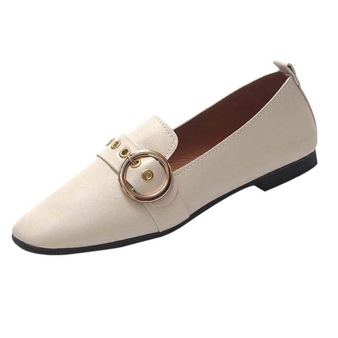 Sandalias planas mujer verano 2018, Covermason Zapatillas planas de boca británica de moda para mujeres pequeñas: Amazon.es: Ropa y accesorios