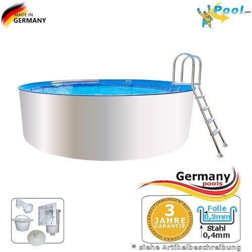 Acero Pared Pool 4, 00 x 0, 90 Tice Pool Piscina (4 m ...