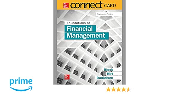 Connect 1 Semester Access Card For Foundations Of Financial