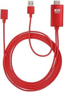ASHATA Adaptador Universal HDMI 1080P Cable de teléfono a TV ...