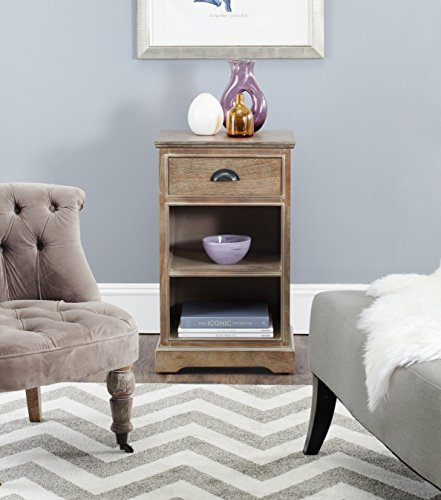 Safavieh American Homes Collection Griffin Washed Pine Side Table