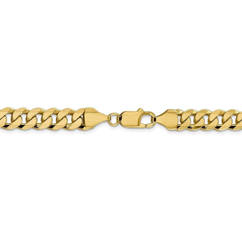 14 K黄色ゴールドクラシック縁石チェーンブレスレット B07CNJFM9S 2.2mm