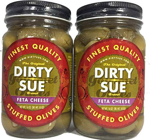 (Dirty Sue Stuffed Olives and Onions - Set of 2 16 oz Jars (Feta Cheese))