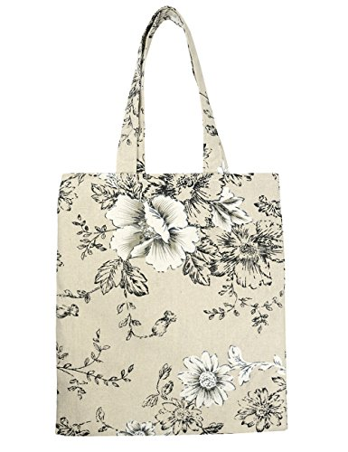 Fashion Floral Patterns Pure Cotton Canvas Tote (Purs And Handbag Patterns)