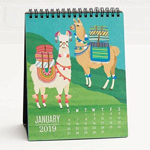 2019 Critters Easel Llama Puffin Multicolored 8 x 6 Paper Office Desk Calendar (Paper Source Wall Calendar)